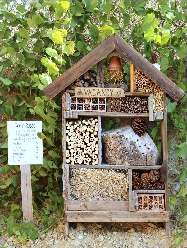 Insect Hotel by Vintage with Laces, featured on Funky Junk Interiors