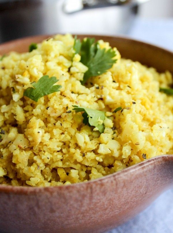 """Indian Spiced Cauliflower """"Rice"""" 