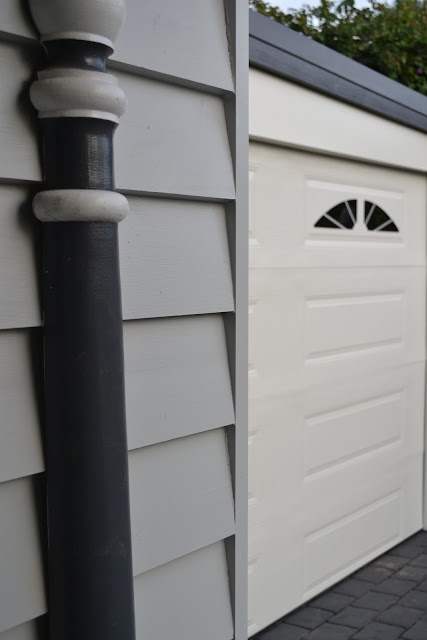 Dulux: Tranquil Retreat, Ironstone, Surfmist. We've gone for Vivid White trim instead of Ironstone