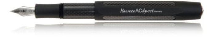 Kaweco AC Sport Carbon Black Fine Point Fountain Pen