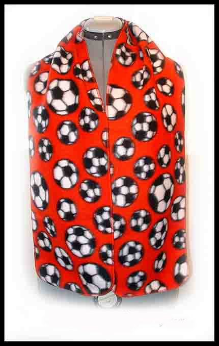 Soccer Fleece Scarf European Football Muffler by Handmadecrafter, $8.00