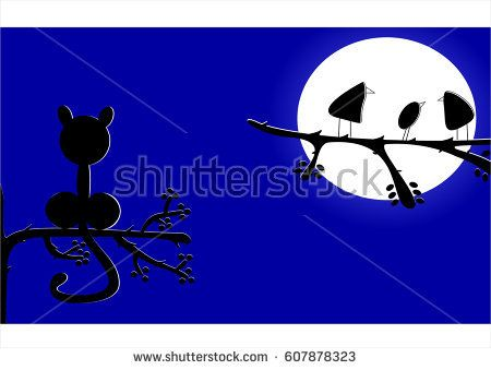 Lonely cat vector design for backgrounds