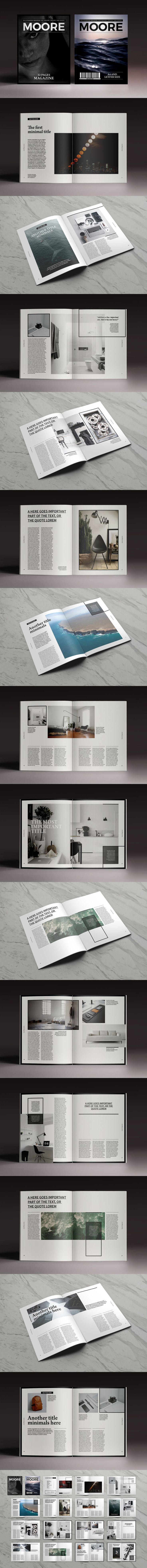 Multipurpose Magazine Template InDesign INDD - 32 Pages, Letter Size and A4 Size