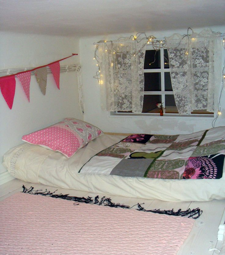 Secret loft bed for a little princess.