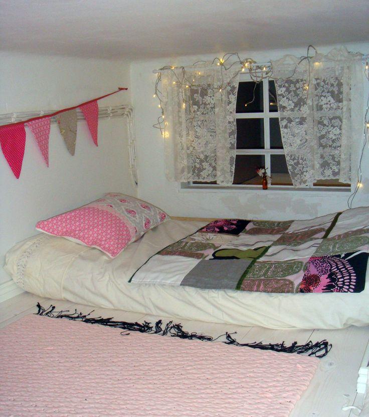 Secret loft bed for a little princess.