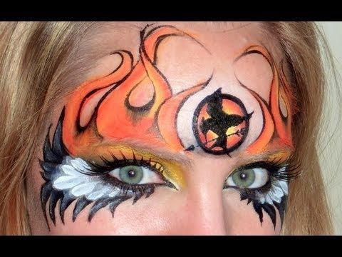 The Hunger Games Makeup - Girl on Fire -   from one of my favorite Facepainters - Lisa Joy Young!  Her designs are awesome!!!