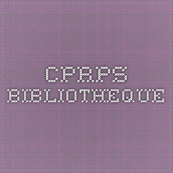 Les ressources de la bibliothèque du CPRPS peuvent être recherchées en ligne. / The CPRPS' library resources can be searched online.