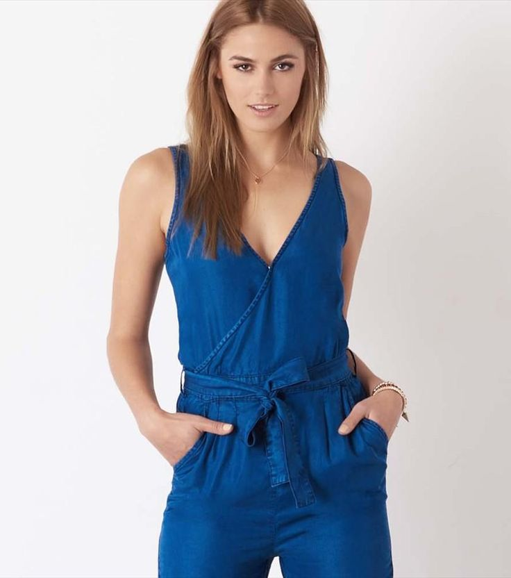 Denim Jumpsuit in Blue Willow. The easiest outfit ever!