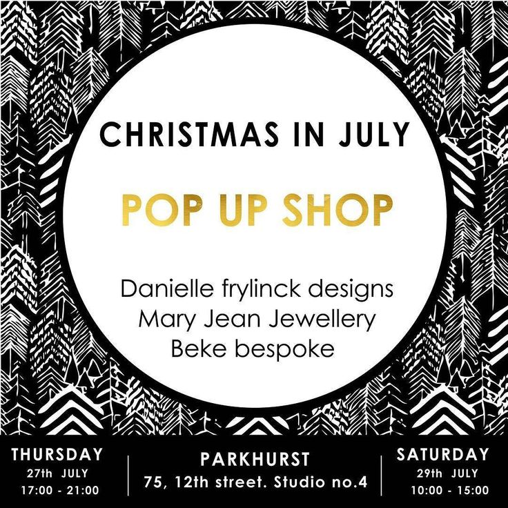 'Tis the season to be jolly  it's Christmas in July  on 4th avenue Parkhurst!! Pop in for some shopping and spoils at the  @daniellefrylinckdesign studio in Parkhurst. . A Co-lab pop up shop of stunning timeless fashion by @daniellefrylinckdesign Classic winter accessories & luxury knitwear from @beke_bespoke and our @maryjeanjewellery Adinkra Jewellery collection. . Thursday - 17h00 - 21h00 Saturday 10h00 - 15h00 . #shoplocal #Christmas#christmasinjuly#lovelocalza  #payday #popup #shopping…