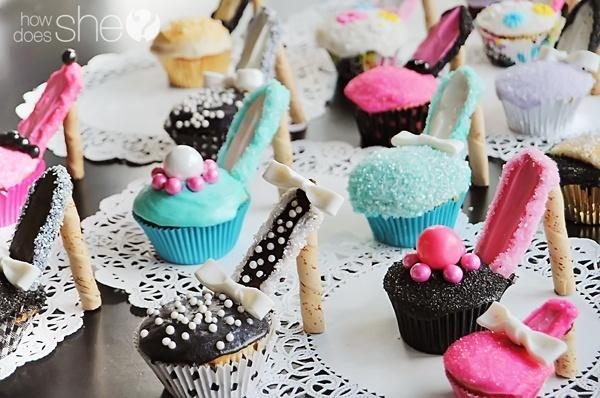 High heel cupcakes entertaining