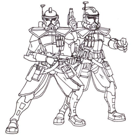 Clone ARC Trooper Captain Coloring Pictures | Star wars ...