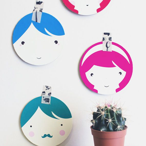 Summer paper coasters Kids Party Spring EcoFriendly by MessProject, €14.00  #paper #Coasters #kawaii #kids #nursery #party