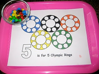 Some Tot School Time Olympic Trays