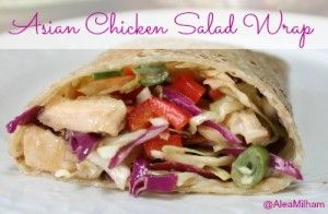 Asian Chicken Salad Wrap Recipe - with gluten-free options: use brown rice tortilla for wrap, but lettuce would also work