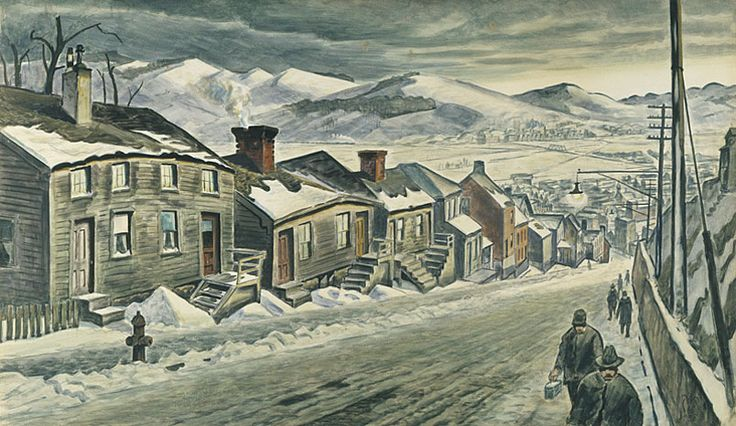 Charles Burchfield, End of the Day, 1938, Watercolor on paper, 97.1 x 148 cm, The Pennsylvania Academy of Fine Arts, Philadelphia