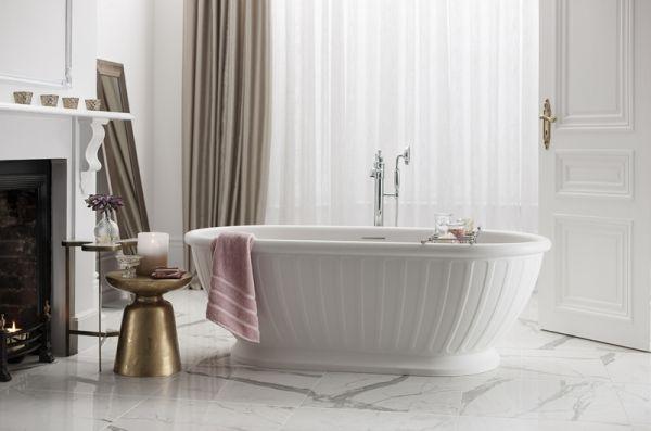 Albany frittstående badekar i naturstein