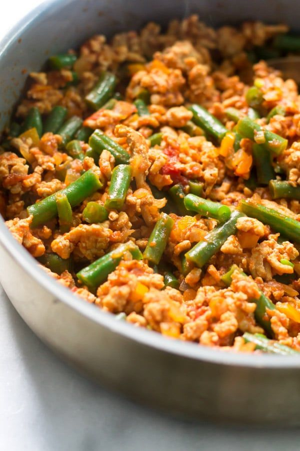 Ground Turkey Skillet With Green Beans A Very Gluten