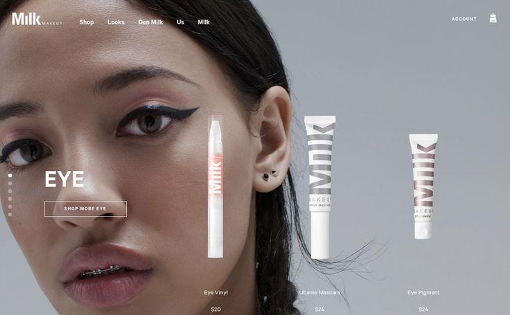 Milk Makeup site design