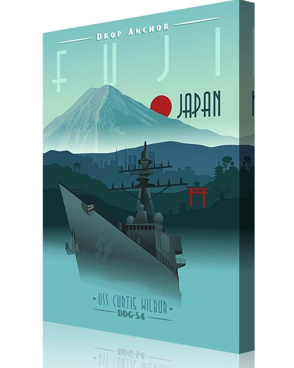 Share Squadron Posters for a 10% off coupon! USS Curtis Wilbur DDG-54 Japan #http://www.pinterest.com/squadronposters/