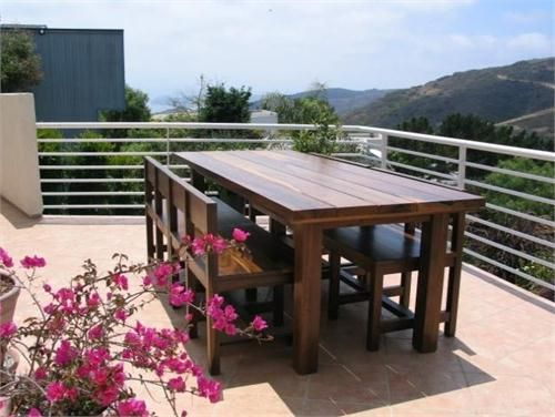 Transitional Outdoor Dining Table from Costantini Design, Model: Guayubira