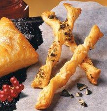 Rezept aus der Tante Fanny Kochwerkstatt: Käsestangen oder Sesam-Käsestangen