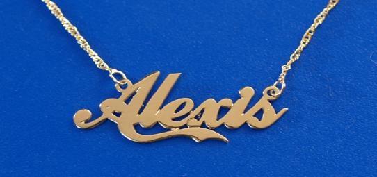 Big Letter Charm Necklaces