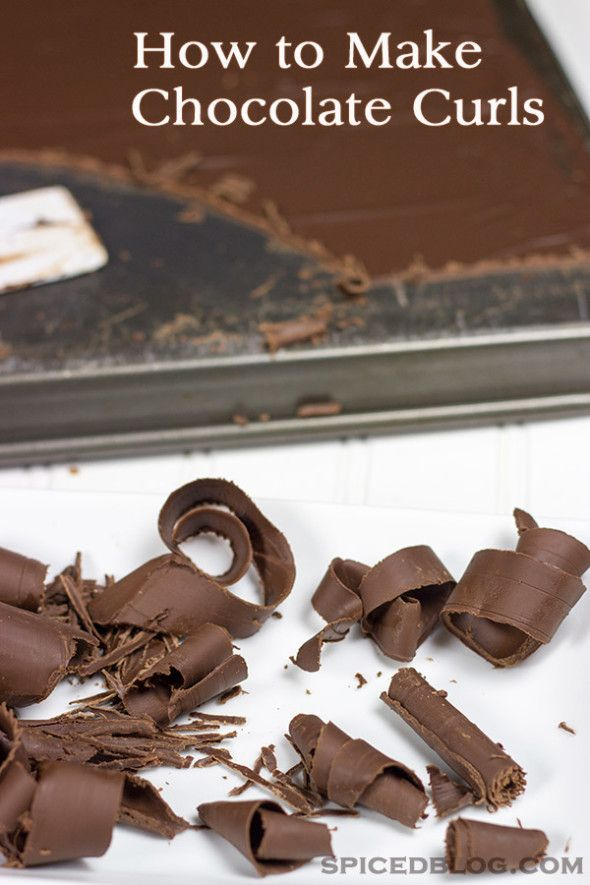 How To Make Chocolate Curls Recipe Blogger Recipes We Love