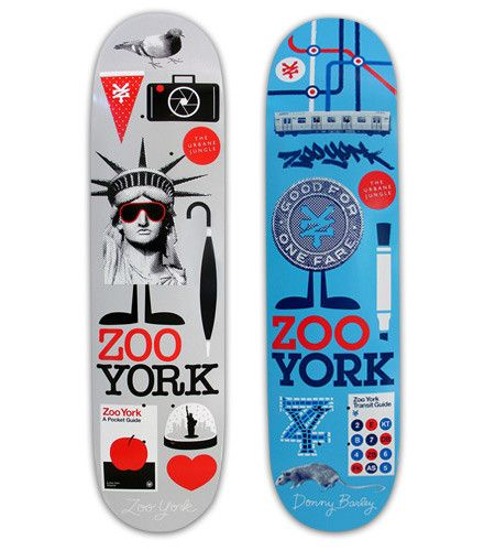 Throwing random images that represent new york on a board isn't a good design to me. Get creative Zoo York!