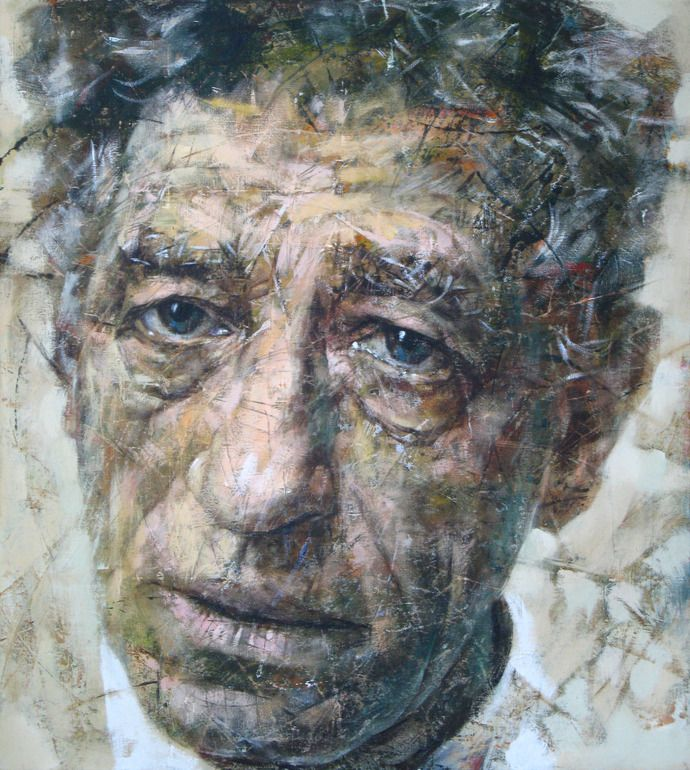 "Saatchi Online Artist: Alexander Ilichev; Acrylic, Painting ""GIACOMETTI"""