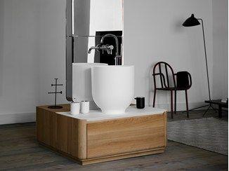 Single wooden vanity unit with drawers ORIGIN | Single vanity unit