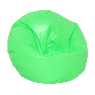 Zipped Bean Bag Chair Upholstery: Neon Green - http://delanico.com/bean-bag-chairs/zipped-bean-bag-chair-upholstery-neon-green-725830074/