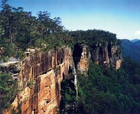 National parks areas in the NSW Southern Highlands contain some of the region's most popular visitor destinations. Three of these areas are located within Morton National Park while Carrington Falls is found in the adjacent Budderoo National Park.Perched on the edge of the Southern Highlands escarpment, they offer striking views over the adjacent river valleys leading down to the Shoalhaven River and along the spectacular sandstone escarpment.