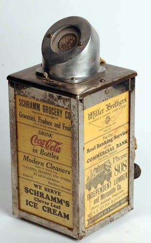 This is a vintage cigar lighter. It is from the 1930s. It was produced by Coca Cola. It's is a prime example of technology of the time. Smoking was much more popular in this time.