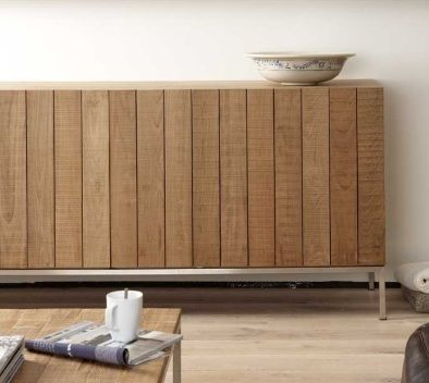 ethnicraft | teak rough sideboard, three doors (at lekker home)