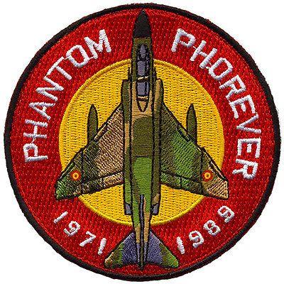 Parche bordado F-4C Phantom conmemorativo Ejército del Aire / F-4C Phantom patch