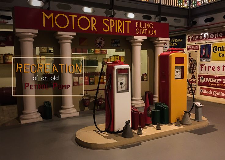 Recreation of vintage motor filling station representing an amalgam of fuel & tyre companies of yesteryears!   #VintageCollection #Heritage #TransportMuseum #Museum #VintageStyle #IncredibleIndia #Memorabilia #MemoryLane #Gurugram