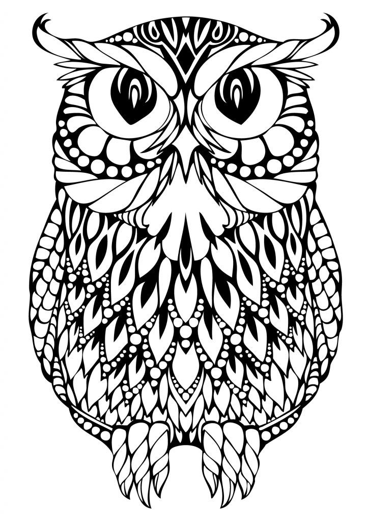 tattoo owl coloring pages - photo#31