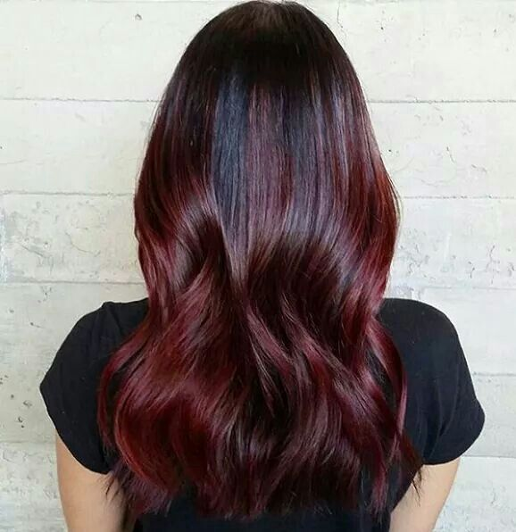 aubergine balayage ombre hair and makeup pinterest balayage ombr et balayage. Black Bedroom Furniture Sets. Home Design Ideas