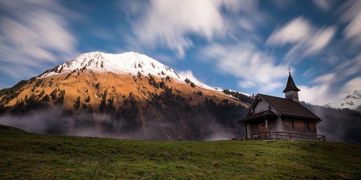 Bergpanorama im Bregenzerwald, Vorarlberg, Austria