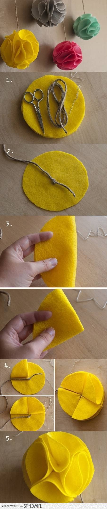 DIY Felt Decorative Balls DIY Projects | UsefulDIY.com na Stylowi.pl