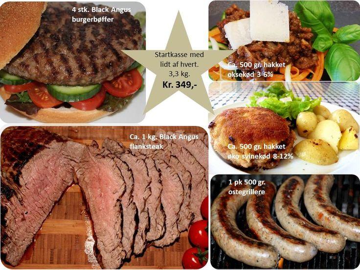 Lækker startpakke til dig som ikke har prøvet vores skønne kvalitetskød. Prøv os af med denne lille pakke. 3,3 kg. til kun kr. 349,- http://www.jellingnaturkod.dk/shop/startkasse-flanksteak-517p.html