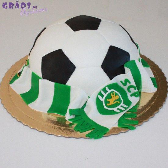Futebol - Bola Cachecol SCP - Grãos de Açúcar - Bolos decorados - Cake Design
