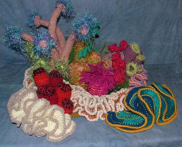 Sydney Hyperbolic Crochet Coral Reef, view 1 by renatekirkpatrick, via Flickr