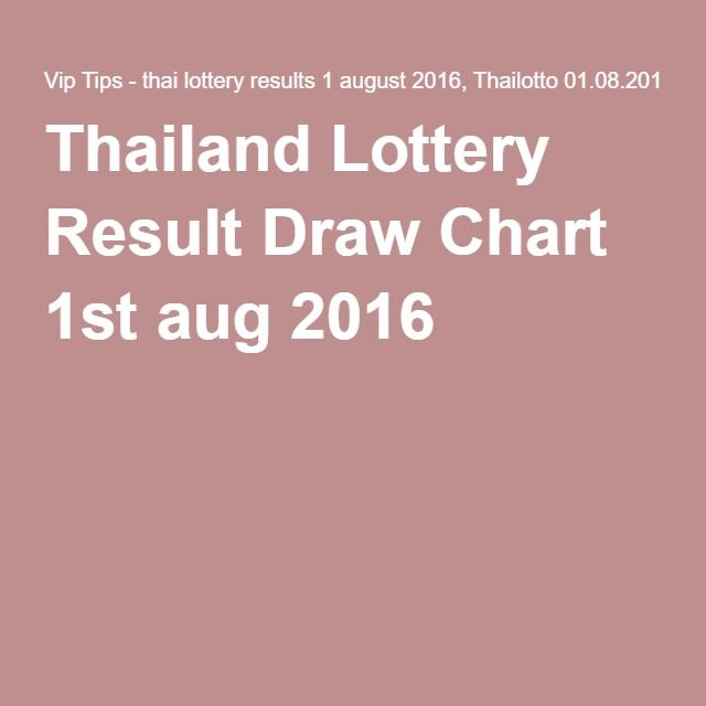 Thailand Lottery Result Draw Chart 1st aug 2016
