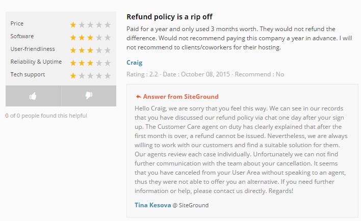 Refund policy is a rip off - refund policy