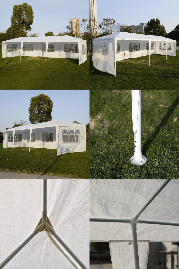 [Visit to Buy] 10'x30' Party Wedding Outdoor Patio Tent Canopy Heavy duty Gazebo Pavilion Event  AP2014WH #Advertisement
