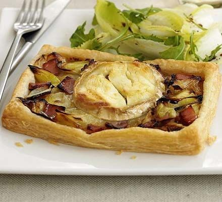 Welsh goat's cheese & leek tart. Not just for St David's day, make this tasty tart for two for any special occasion.