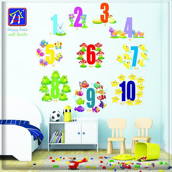 numbers wall stickers kids numbers wall decal numbers on wall stickers for kids id=13506