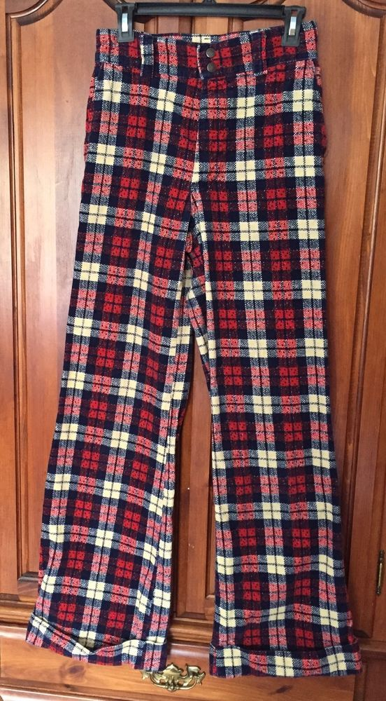 Plaid bell bottoms something