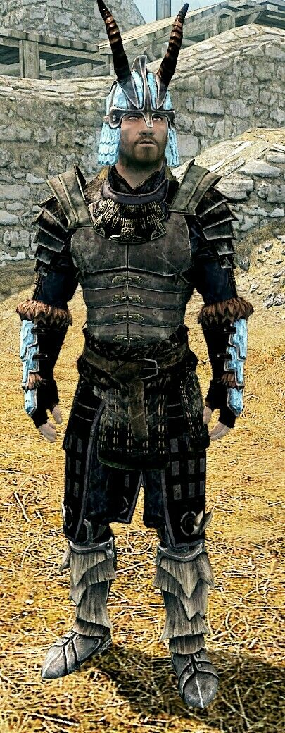 """Stalhrim Samurai"" by Greg  Light StalhrimHelmet Blades Armor Stalhrim Light Bracers Dragonscale Boots"